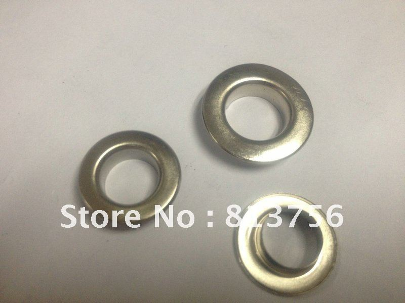 Free Shipping 1000 sets  12 *6 mm BRASS ROUND grommet EYELETS<br><br>Aliexpress