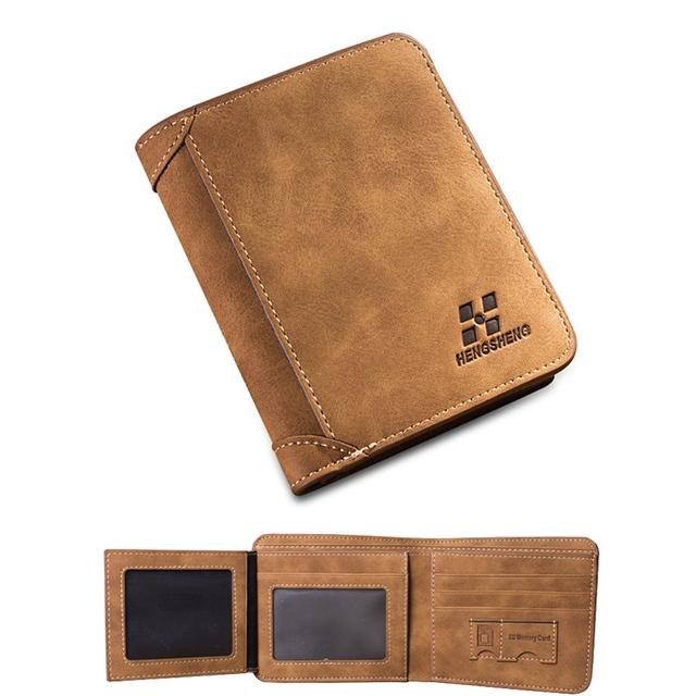 2015 новое поступление нубука бумажник марка винтаж короткие кошелек лучший подарок ...