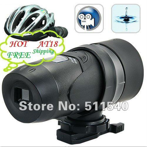 hot price Free Shipping Waterproof Sport Helmet Video Camera Action Outdoor Sport Camera Wholesale Helmet Camera AT18