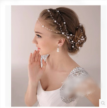New Fashion Synthetic Pearl Party Bridal Head Chain Line Hair Accessory Wedding Hair Accessories Hairbands
