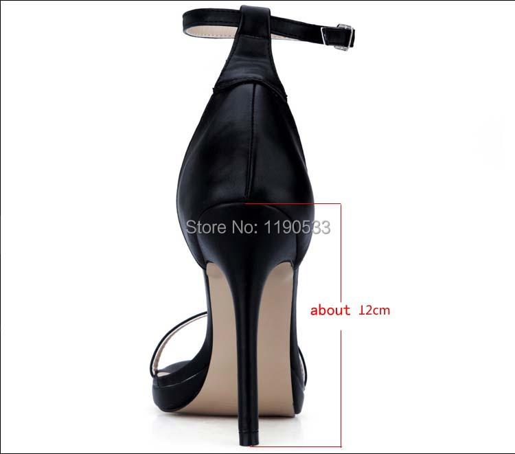 2016 new fashion sandalias plataforma black high heels sandals femininas salto alto sexy lady platform pumps women's shoes 35-43