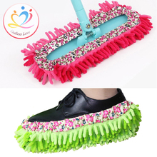 New Arrivals creative Multifunction Gloves for wearing shoe Super Mitt Microfiber ground Cleaning Vestidos Washer Free Shipping(China (Mainland))