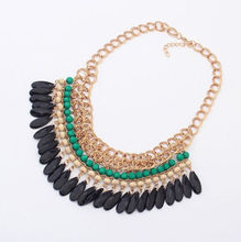 Women Luxury Statement Alloy Necklaces Pendants Women Link Chain Fashion 2015 New items Chokers Colar HOT