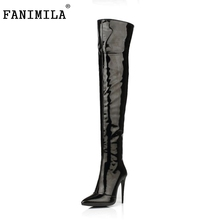 Buy Plus Size 33-43 Botines Female Winter Boots Women Shoes Knee High Thigh Boots High Heel Suede Boots Botas Mujer Femininas for $49.76 in AliExpress store