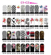 Fashion Designs Hot Water Transfer Nail Stickers 50sheets Full Cover Flowers Bow Foils Polish DIY Nail