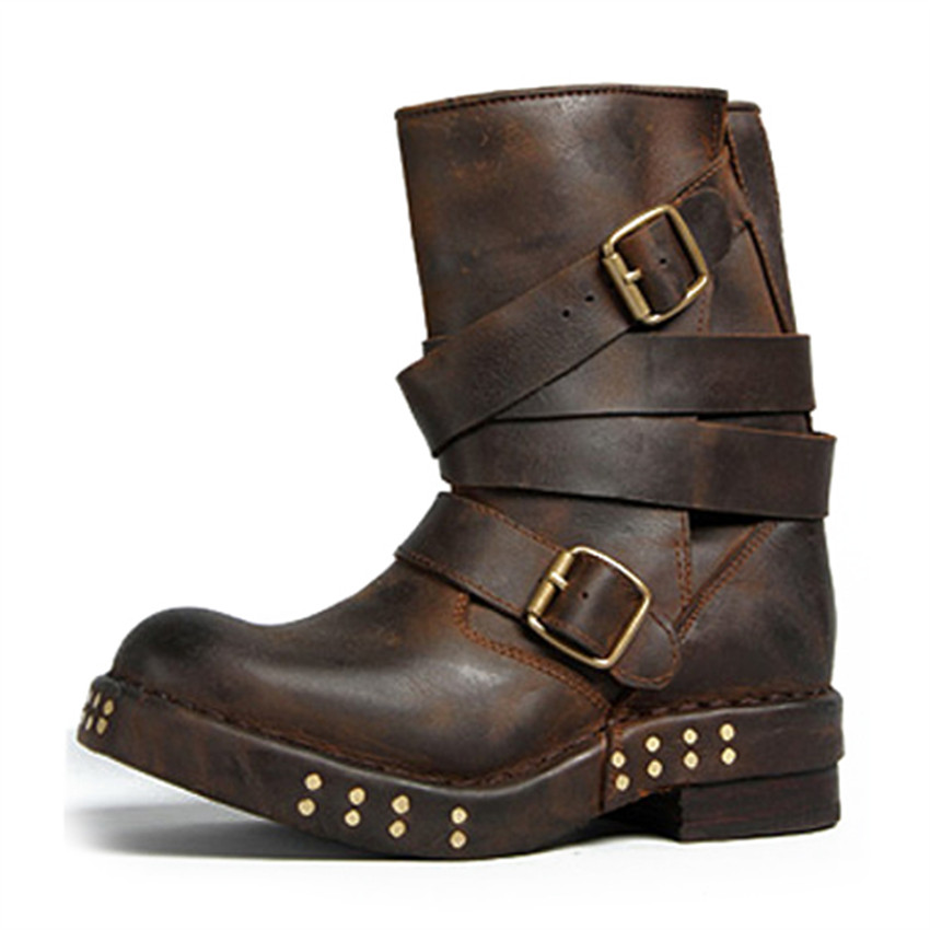 Flat Brown Ankle Boots Promotion-Shop for Promotional Flat Brown ...