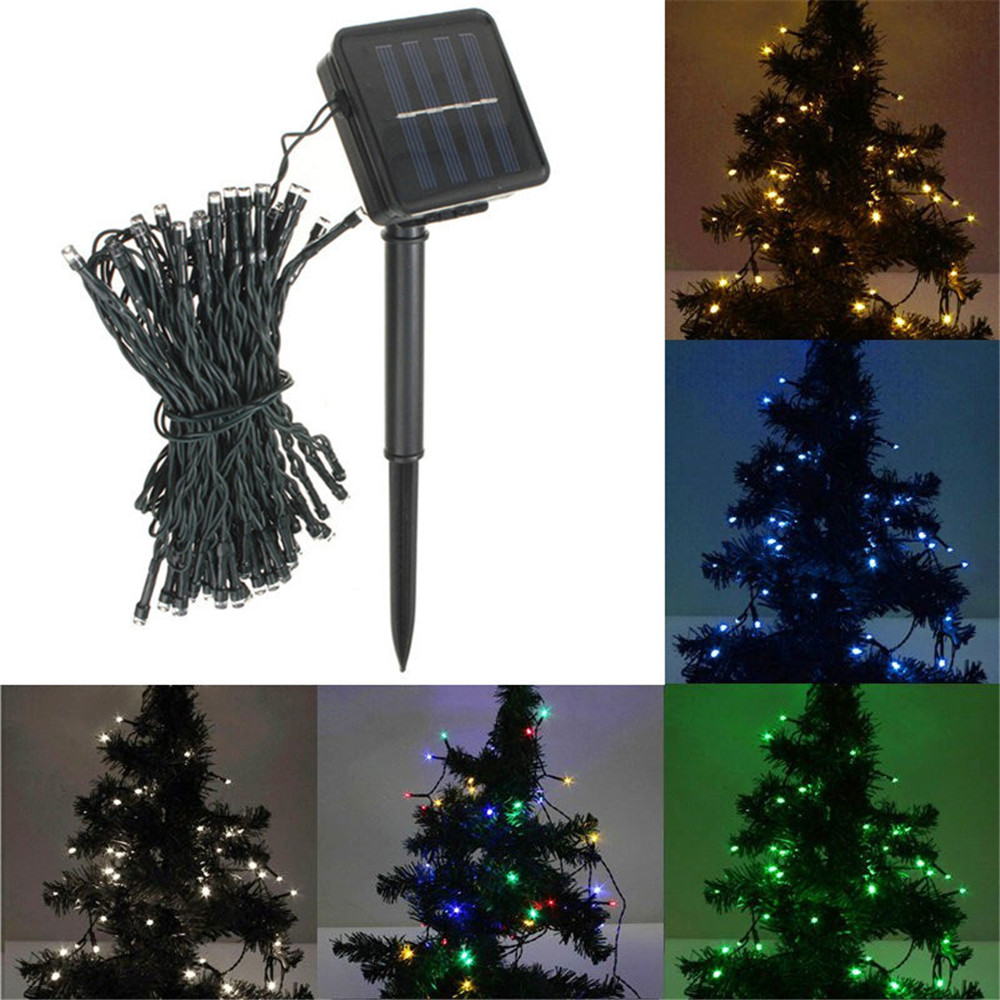 8M 60 LED Solar Power String Fairy Light Beautiful Outdoor Party Wedding Xmas Restaurants or Garden Decorate(China (Mainland))