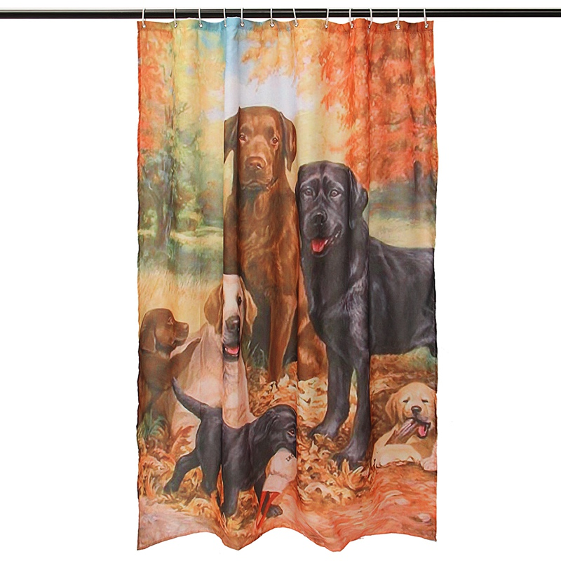 Charmant 2018 Wholesale Waterproof Lovely Labrador Retriever Dog Shower Curtain Tub  Curtain Bath Bathing Sheer For Home Decorations With Hooks 180x150cm From  ...