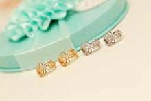 Korea Crystal Imitation Pearls Earrings Ear Clip Earrings Female Temperament No Wholesale Body Piercing Ear Bone Folder(China (Mainland))