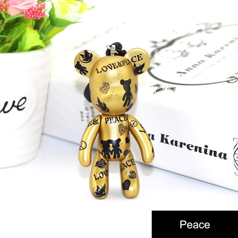 Korean Gloomy Doll KeyChain Creative Couple Key Chain Cars Buckle Couple Small Jewelry Keyring(China (Mainland))