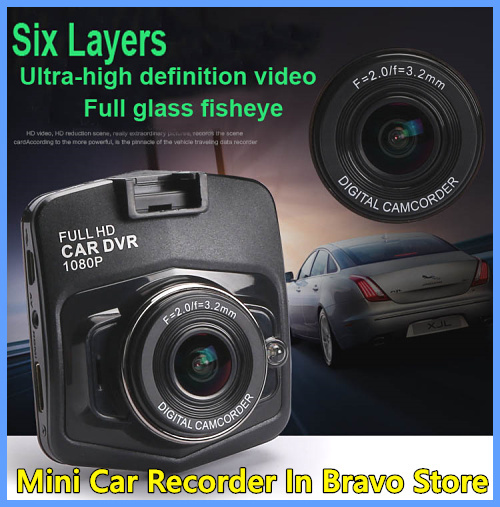 Free shipping Hot !!! Car Dvr Camera Dash Cam Full HD 1080p Parking Video Recorder Mini Vehicle Black Box Night Vision(China (Mainland))