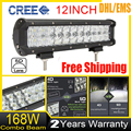 168W 12 Inch 5D CREE Chips LED Combo Work Light Bar Offroad Driving Lamp 4WD Truck