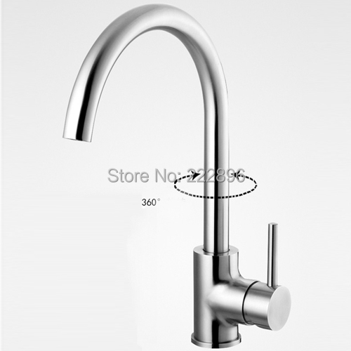 Brass Sink Swivel Pipe Chrome Kitchen Faucet Handles Hot & Cold Mixer Water Tap Deck Mounted torneira para cozinha grifos cocina(China (Mainland))
