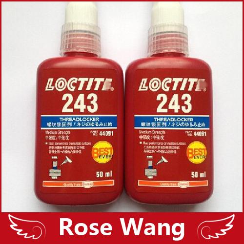 2PCS 50ML LOCTIT 243 glue screw glue Blue glue anaerobic adhesive Moderate intensity, can be detached(China (Mainland))