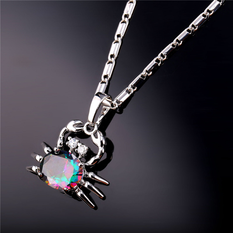 Crystal Cute Crab Pendant & Pendent For Women18K Gold Plated/Platinum Plated Necklace Pendent Women Jewelry Wholesale IP1953(China (Mainland))