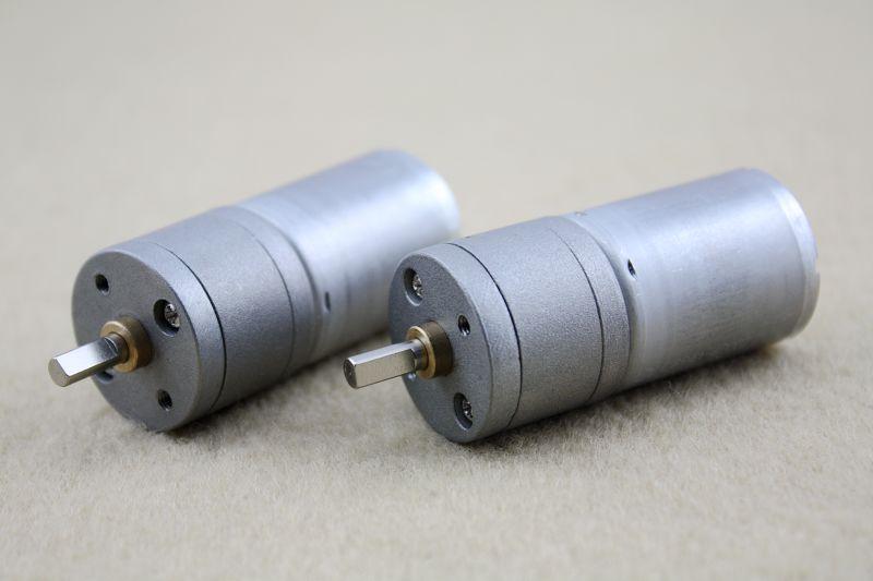 2 X 24v Dc 600rpm Mini Torque Gear Box Motors Hobby 25mm