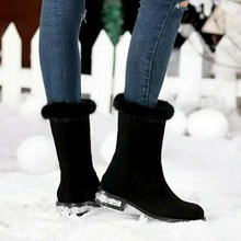 Slip-on Winter Boots 2017 Round Toe Fashion Snow Boots Rhinestone Women Boots Soft Leather Shoes Woman High Quality Shoes Botas(China (Mainland))