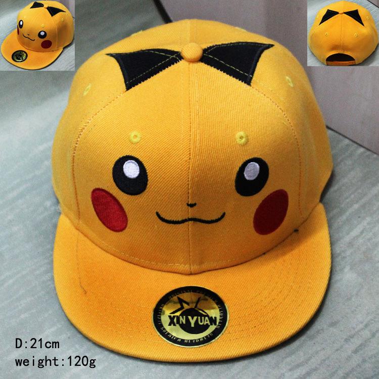2016 Cartoon Pokemon cap ball Red Pikachu Novelty Pokemon hat Anime Pocket Monster ladies dress charms Costume Baseball cap(China (Mainland))