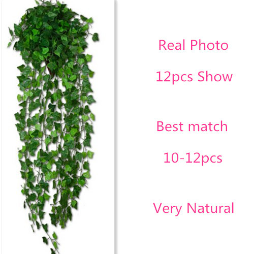 Luyue Artificial Ivy Leaf Garland Plants Vine Fake Foliage Flowers Home decor 7 5 feet