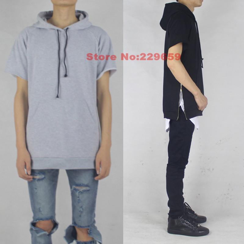 hiphop clothes streetwear mens short sleeve gold side zip. Black Bedroom Furniture Sets. Home Design Ideas