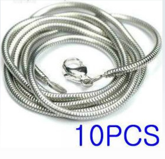 "FREE SHIPPING! Wholesale 10pcs 925sterling silver 1.2mm snake chain 16"",18"",20"",22"" ,24"" (can choose the length) C1(China (Mainland))"