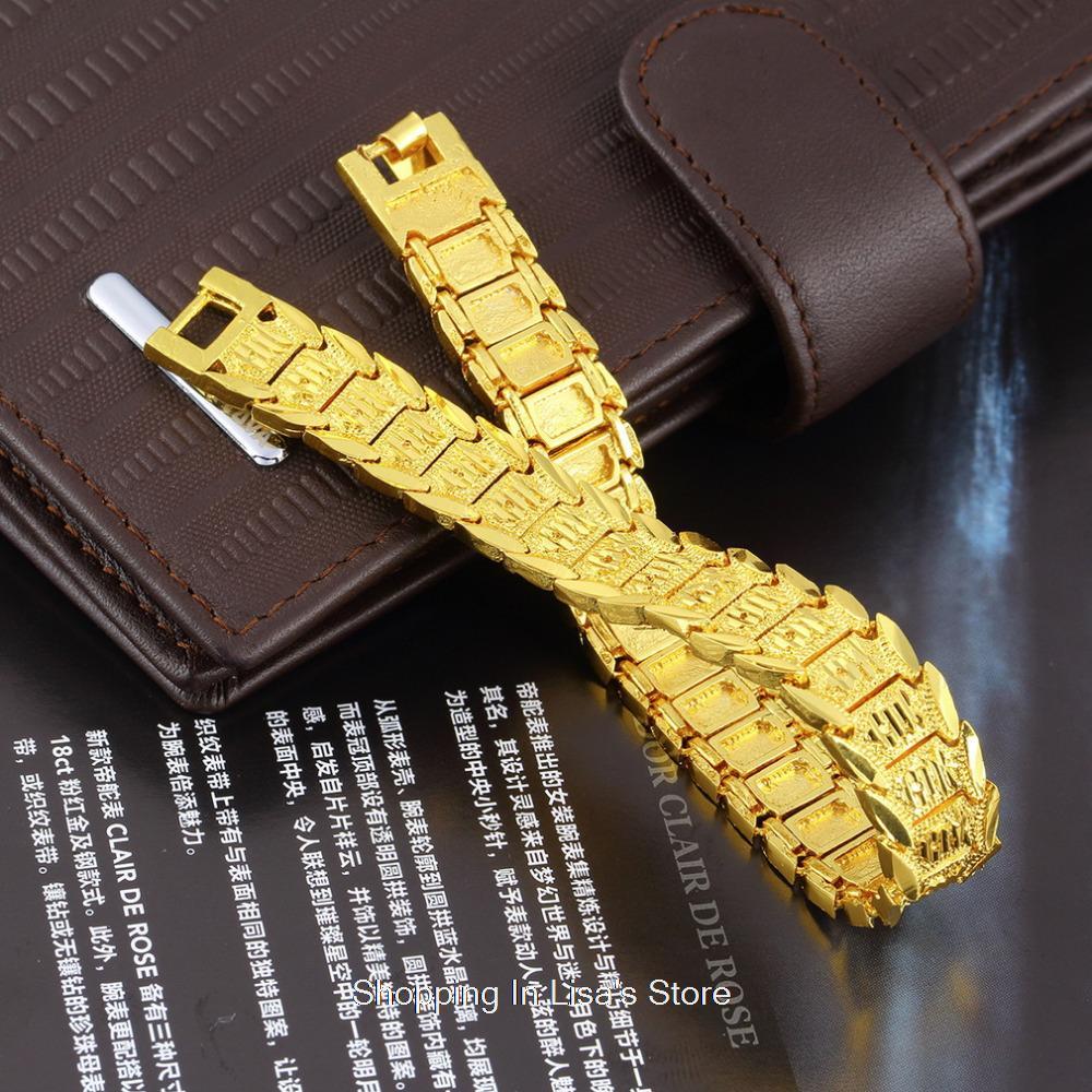 Vintage 18k Gold Link Bracelet 18k Gold Plated Bracelet