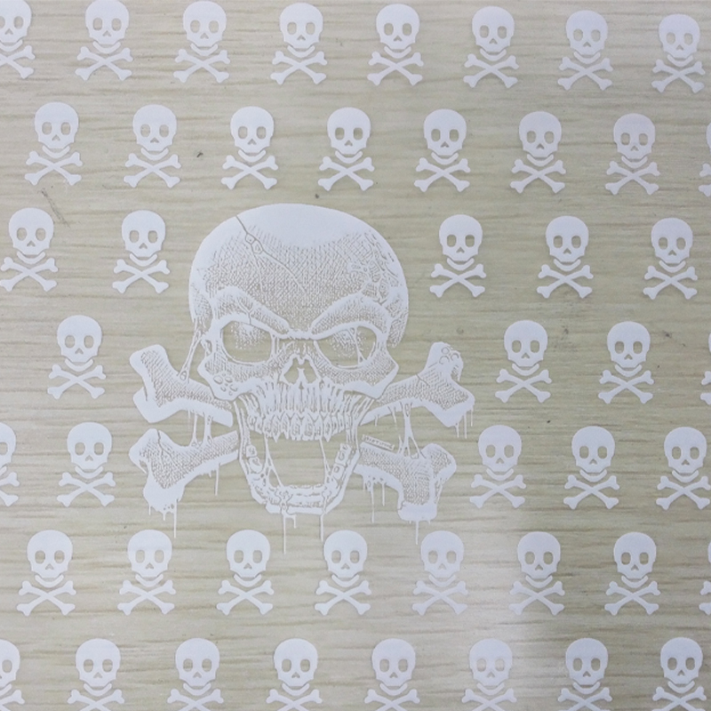 TSAUTOP CS116 width 50cm 10Sqm white skull transparent base hydrographics transfer printing film water transfer printing film(China (Mainland))