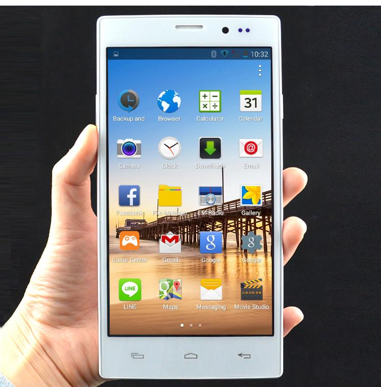 Original Smart Cell phones Mobile Phones case Android 4.4 MTK6572 Dual Core 5.5'' Big Screen ROM4GB Unlocked Dual SIM WCDMA GPS(China (Mainland))