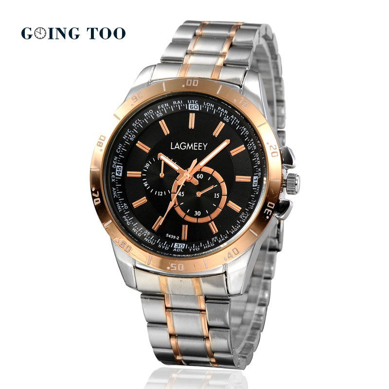 2015 new outdoor mountaineering watch, three eyes of six pin Japanese stainless steel strap, high hardness, anti wear waterproof<br><br>Aliexpress