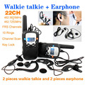 T 388 22 Channels Monitor Function 2 piece Mini Walkie Talkie Travel Two Way Radio Intercom