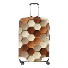 Fashion travel luggage cover travel bag cover geometric pictures Waterproof Protect Covers for Suitcase girl's(China (Mainland))