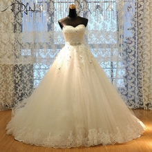 Buy ADLN Sweetheart Wedding Dress 2017 A-line Princess Plus Size Bridal Gown Custom Made Corset Tulle Vestiddos de Novia for $219.00 in AliExpress store