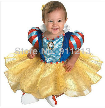 Snow white princess girl dress cute infant baby party dress birthday suit baby christmas children clothing dresses are female