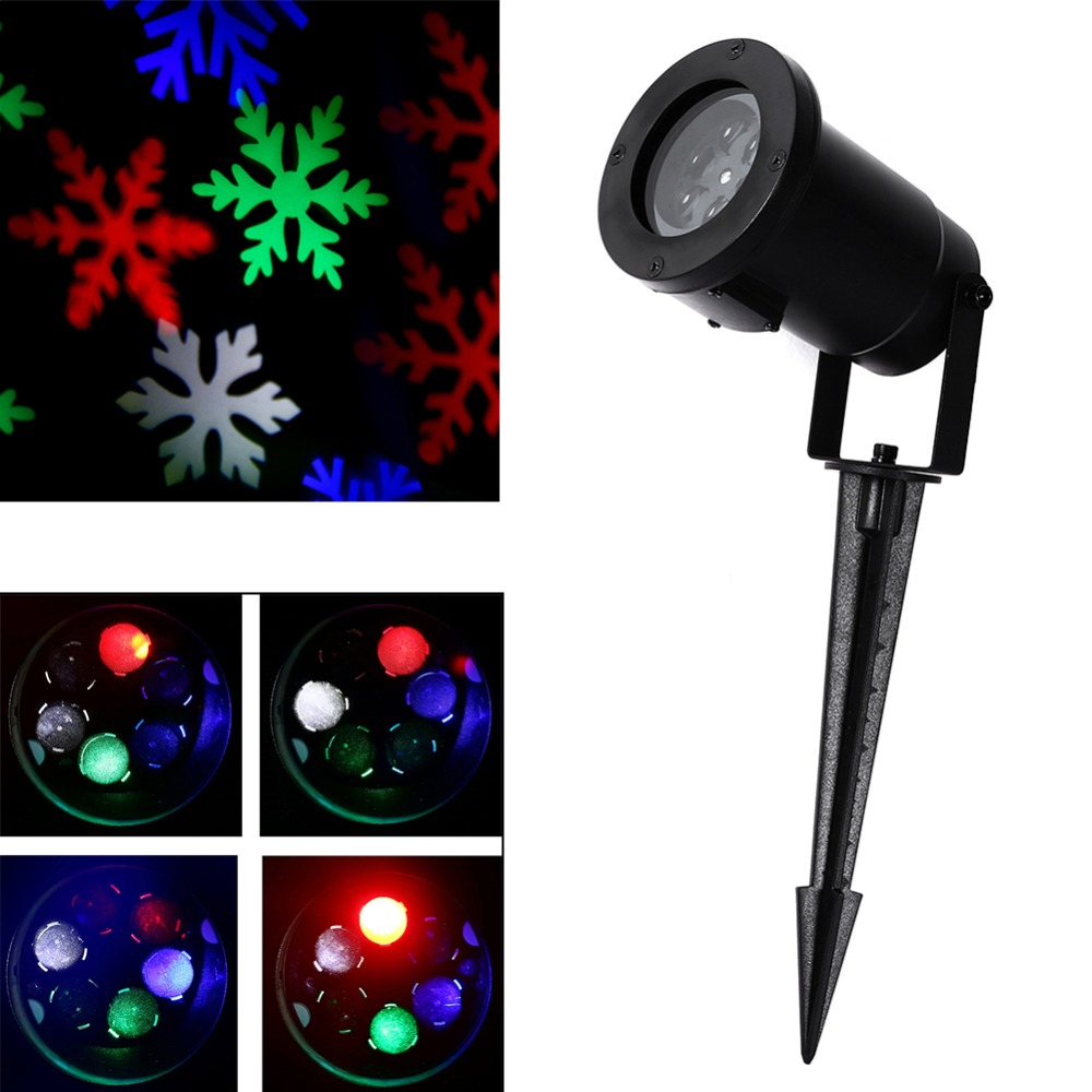 led lightshow multi color snow flurry snowflake led. Black Bedroom Furniture Sets. Home Design Ideas
