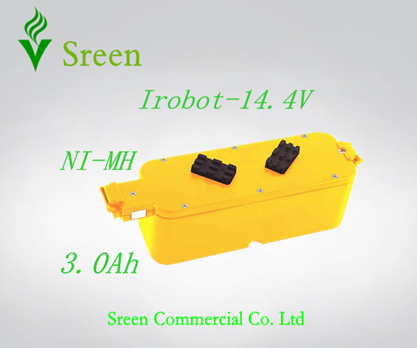 New 14.4V Ni-MH 3.0Ah Replacement Vacuum Rechargeable Battery Packs for iRobot Roomba 400 4905 25247006 4232 4130 4150 4170 4188(China (Mainland))