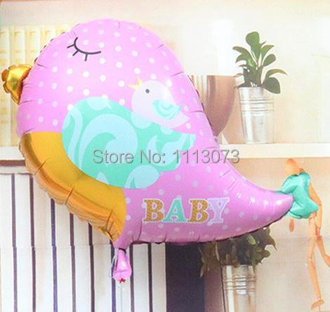 2 шт./лот 36-дюймовые розовые шарики птенцы гелием воздушный шар классические игрушки для детей подарок на день рождения 55 * 67 см, Композиция розовый птица шар