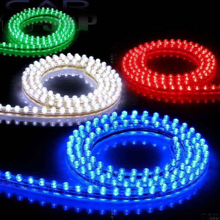 PVC 48CM 48LEDs Car 12V Waterproof Flexible LED Neon DRL Driving Strip Grille Light Show White Light CD549(China (Mainland))