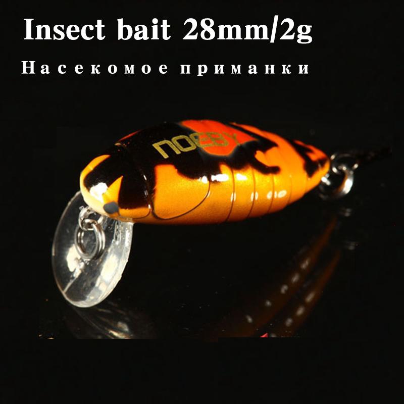 Noeby insect bait Hard lures Crankbait Treble Hook 1 pcs 28mm/2g Fishing Tackle Lure(China (Mainland))