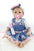 22Inch Simulation Newborn Baby Doll Soft  Silicone  Baby Alive Doll Fashion Reborn Baby Doll  Love Baby Toy Reborn