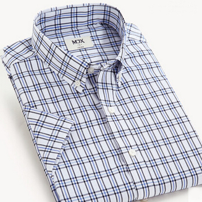 Brand Plaid Shirt Men s Clothing Casual Shirt For Men Short Sleeve Camisa Masculina Summer Style