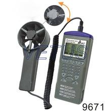 Az9671 AZ-9671 mano la temperatura del aire y flujo de aire del anemómetro con higrómetro termómetro