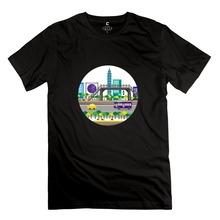 2015 Stylish Taipei 101 Tower icon Men t shirts Printing Men Short Sleeve 100% Cotton t shirt Wholesale(China (Mainland))