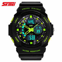 skmei 4 colour Dual display watches male outside hiking sport multifunctional electronic watch male  watch military watches