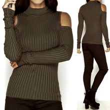 Buy WJ Autumn Turtleneck Shoulder Knitted Sweater Winter Women Fashion Sexy Pullover Jumpers Tops Oversized Capes X6 M3 for $5.73 in AliExpress store