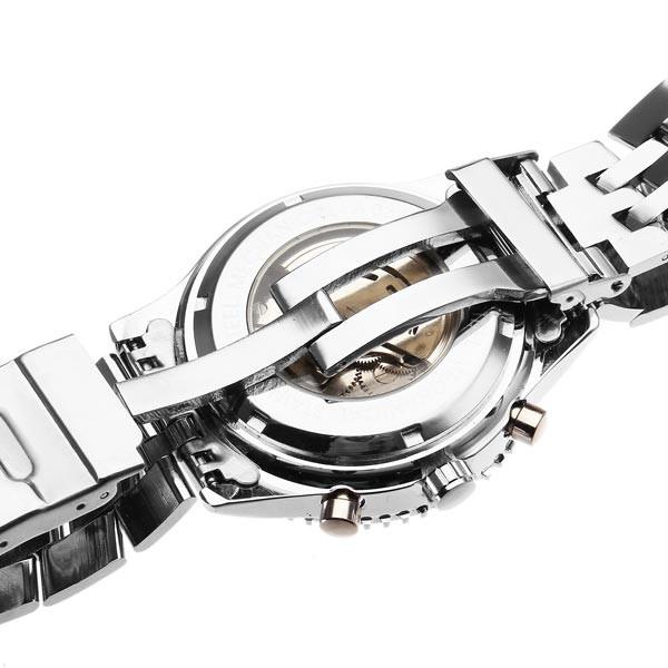 Jaragar бренд класса люкс автоматическая механическая мода из нержавеющей стали 3 набор военнослужащих наручные часы мужские часы 2016 новый