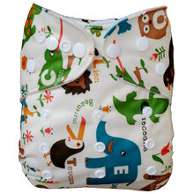 [Mumsbest] 2016 Washable Baby Cloth Diaper Cover Waterproof Cartoon Owl Baby Diapers Reusable Cloth Nappy Suit 0-2years 3-15kg(China (Mainland))