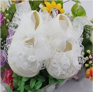 Hot Sale8Hot Sale* Lace Flower Newbored Shoes Cotton Girls First Walkers Non-slip Sole Shoes Kids Prewalkers for Infant<br><br>Aliexpress