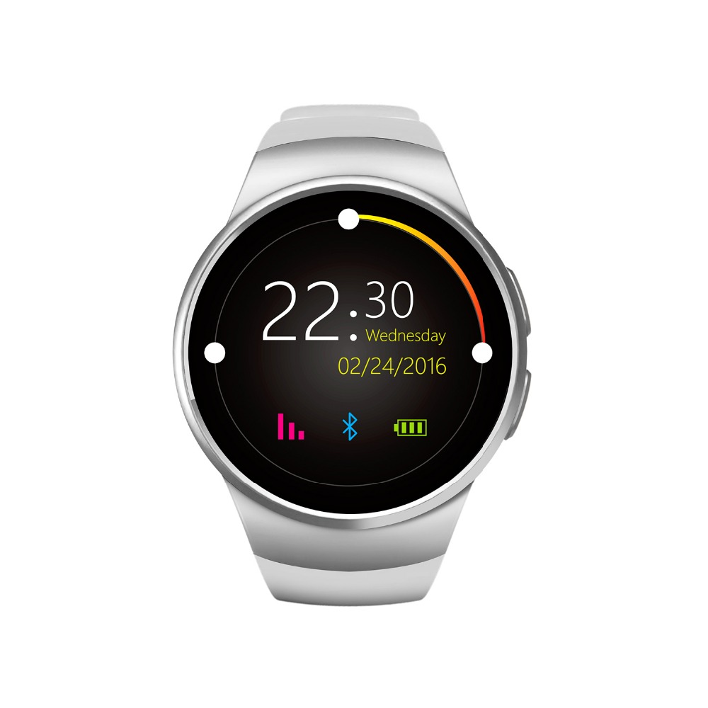 KW18 2016 NEW Style Full Round IPS Heart Rate Smart Watch MTK2502 BT4.0 Smartwatch for ios and Android Intelligent Watch(China (Mainland))