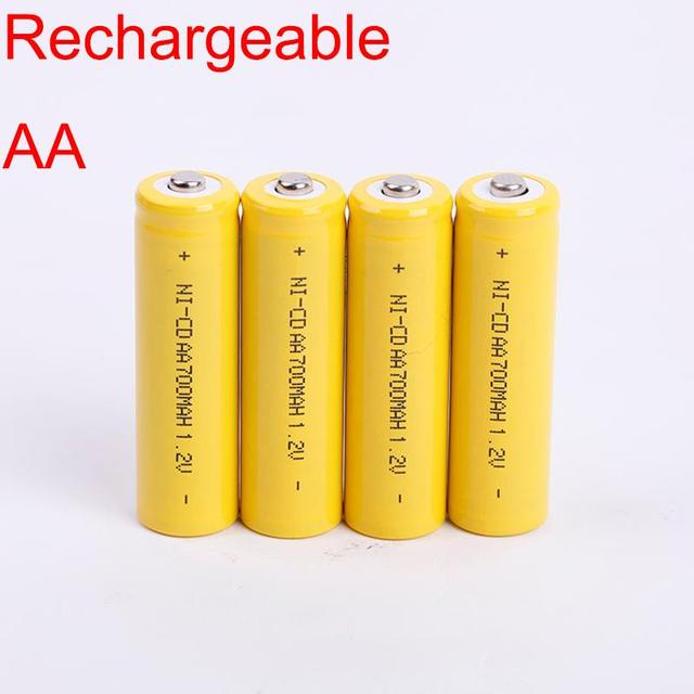 0026 AA 700mAh 1.2V 50.5mm 14.5mm ce Battery NI-CD 500 times Rechargeable Batteries Electronic product Toy 4 PCS