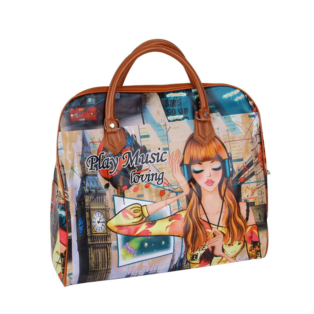 2015 Fashion Nylon Waterproof Luggage Handbag Women Travel Bag Portable Travel Bags For Women And Men Large Capacity YA0451(China (Mainland))